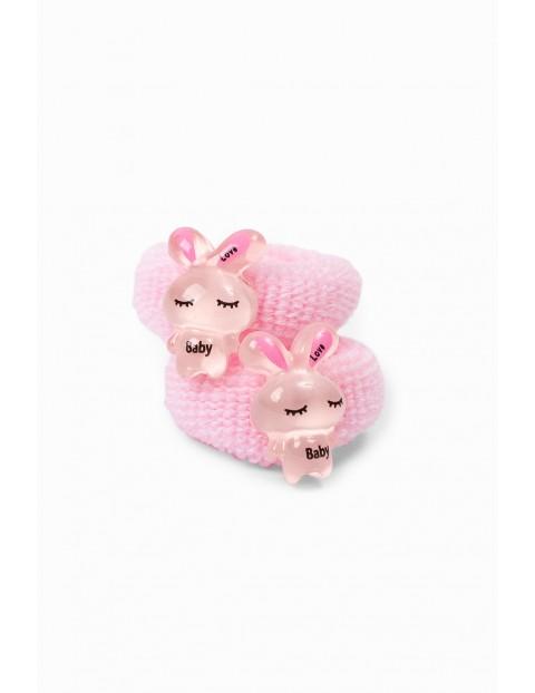 Różowe gumki do włosów 2szt