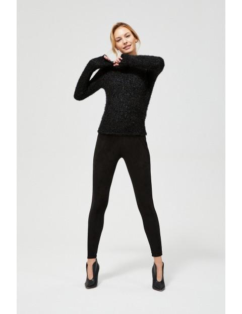 Sweter typu Miś z metaliczną nitką - czarny
