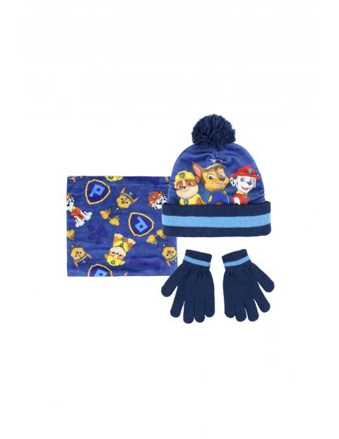 Komplet czapka, szalik, rękawice 1X35BA
