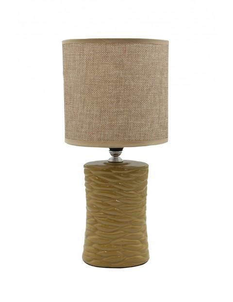 Lampa z ceramiczną podstawą- brązowa