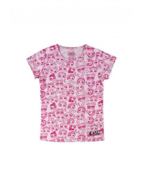 T-shirt dziewczęcy LOL Surprise w kolorze różowym