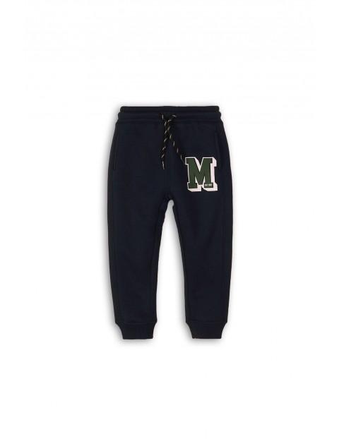 Spodnie chłopięce dresowe - granatowe