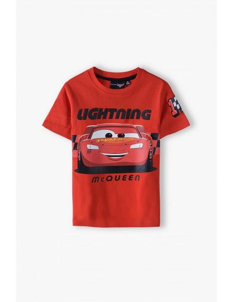 T-shirt chłopięcy Auta czerwony