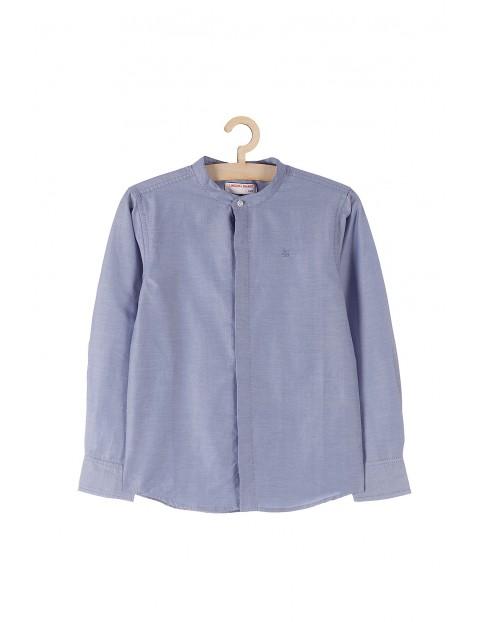 Koszula chłopięca niebieska z długim rękawem