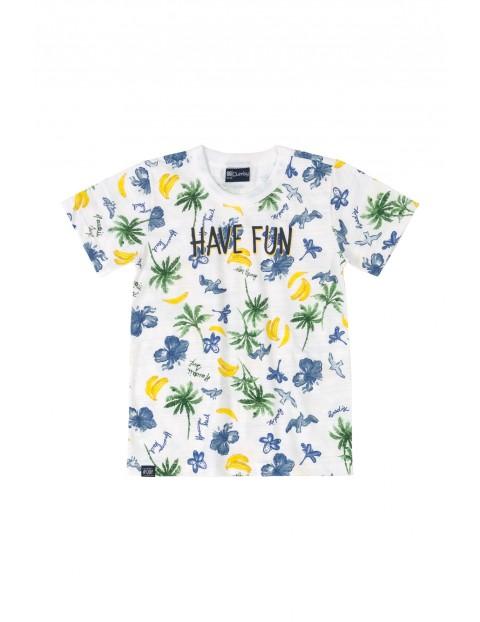 Białt t-shirt chłopięcy z motywem  hawajskim