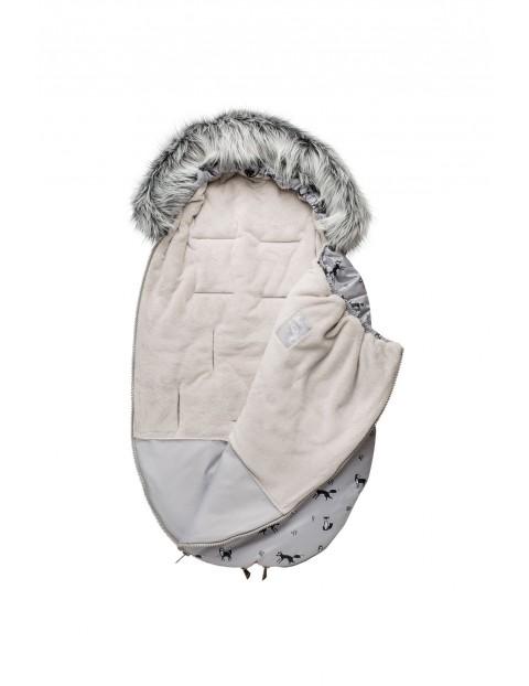 Śpiworek niemowlęcy zimowy- szary