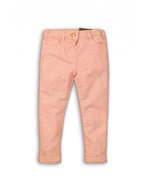Spodnie dziewczęce różowe w gwiazdki