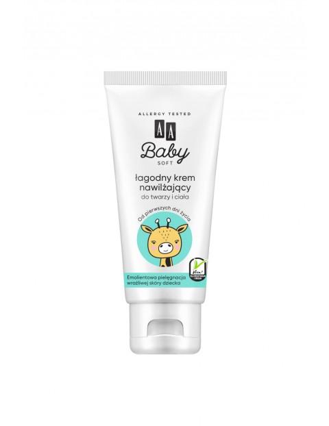 AA Baby Soft Łagodny krem nawilżający do twarzy i ciała 75 ml