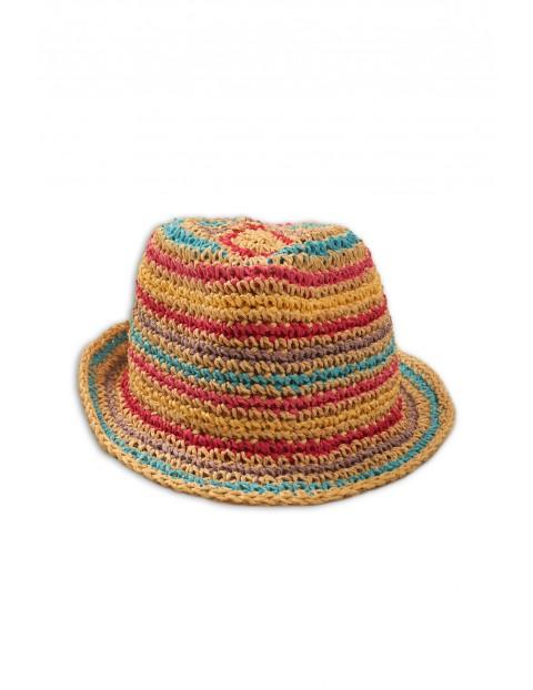 Kolorowy kapelusz dla dziewczynki