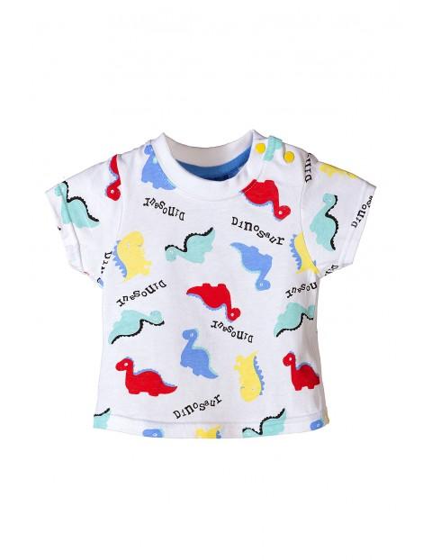 Tshirt niemowlęcy w kolorowe dinozaury