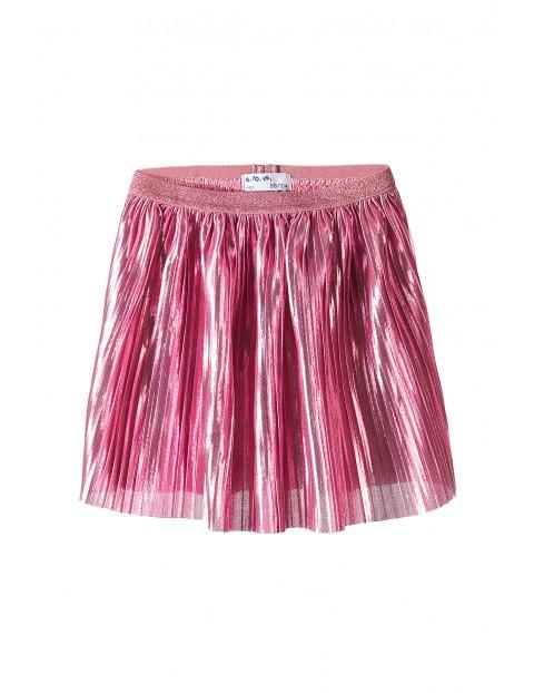 Spódnica plisowana różowa
