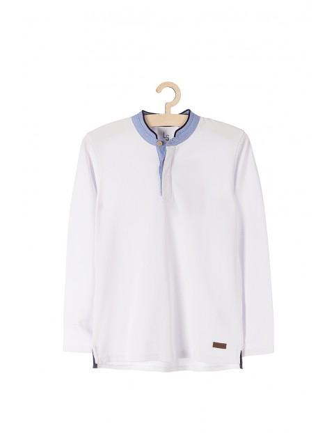 Bluzka biała z długim rękawem dla chłopca