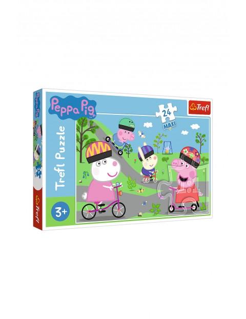 Puzzle 24 Maxi- Aktywny dzień Świnki Peppy wiek 3+