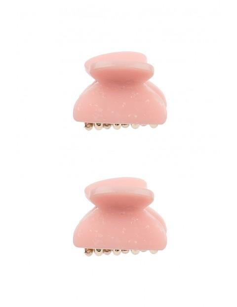 Spinki do włosów 2szt- różowe
