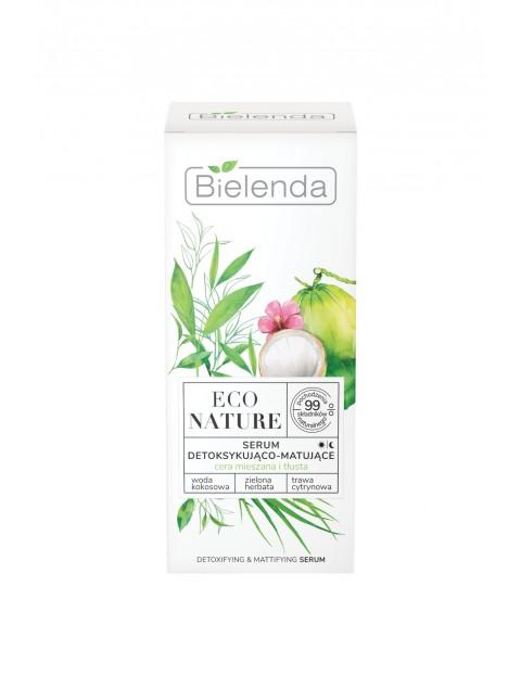 ECO NATURE - Woda kokosowa + Zielona Herbata + Trawa Cytrynowa - serum detoksykująco-matujące 30 ml