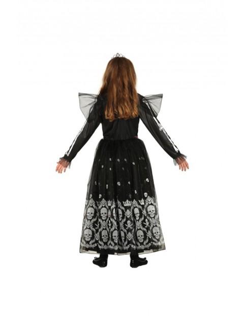 Strój karnawałowy dziewczęcy Księżniczka Szkieletor 10-12lat