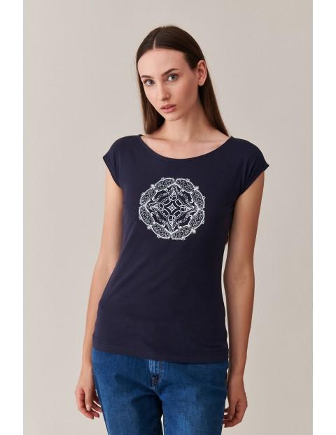 Bawełniany t-shirt damski z nadrukiem Tatuum