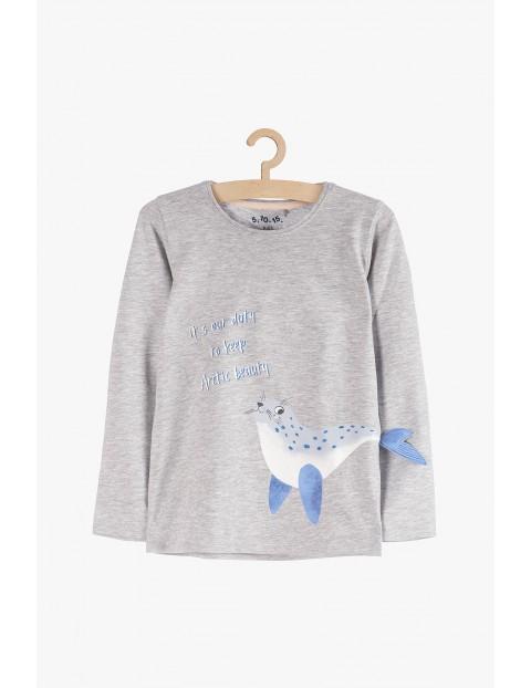 Bluzka dla dziewczynki z aplikacją 3D