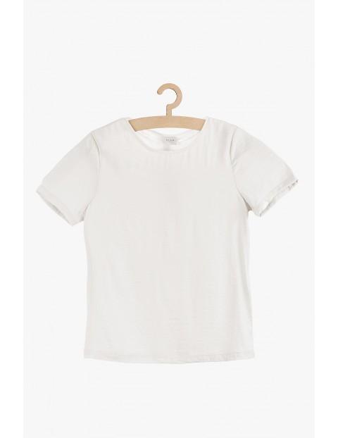 Biała bluzka damska- krótki rękaw