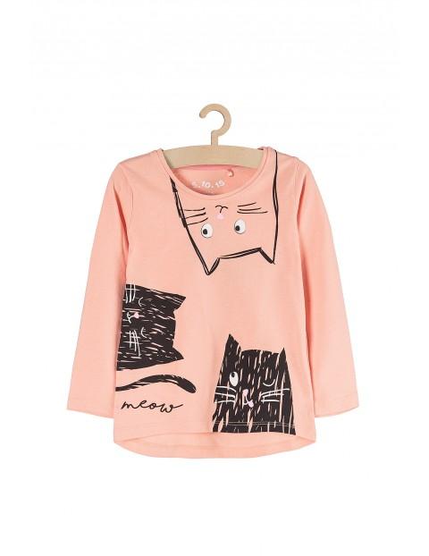 Bluzka dla dziewczynki z czarnymi kotami