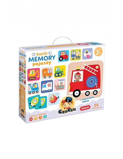 Duuuże memory CzuCzu- Pojazdy 24 elementy wiek 2+
