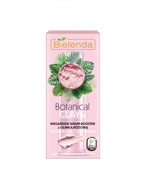 BOTANICAL CLAYS Wegański krem z glinką różową dzień/ noc Bielenda 50ml