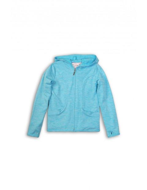 Bluza dresowa dziewczęca niebieska