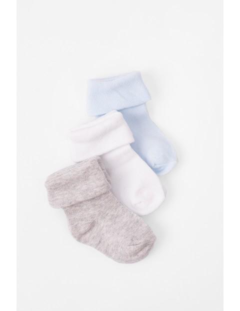 Skarpety niemowlęce gładkie-3pak