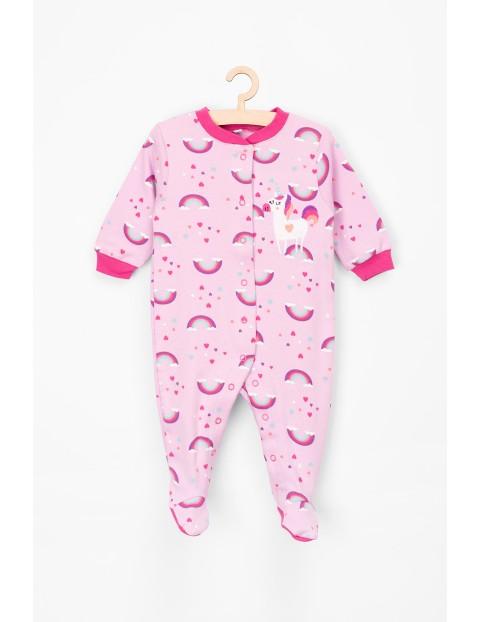 Pajac niemowlęcy bawełniany w jednorożce