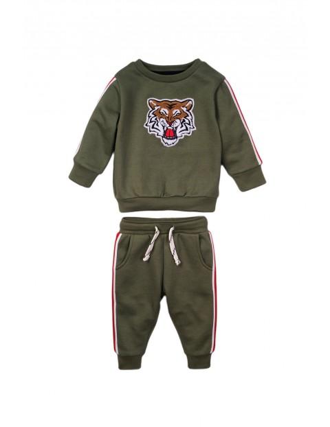 Komplet chłopięcy bluza i spodnie - Tygrys