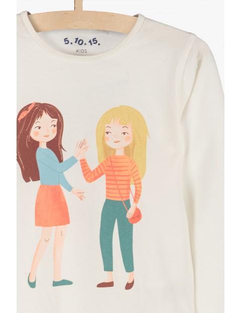 Dzianinowa bluzka dla dziewczynki- długi rękaw