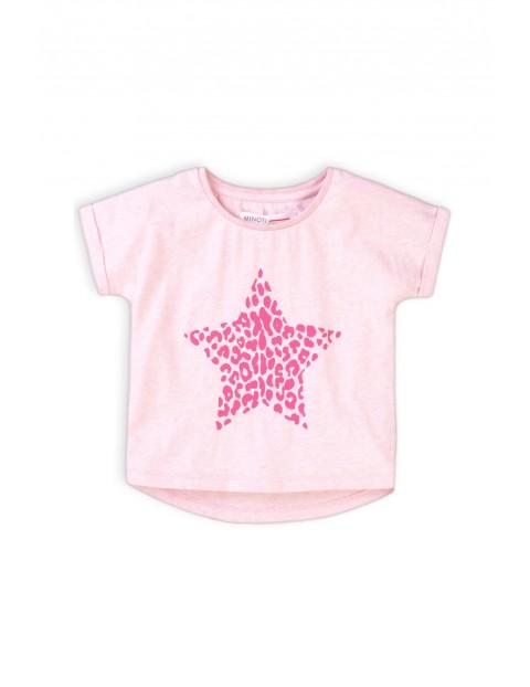 T-shirt dziewczęcy różowy z gwiazdą