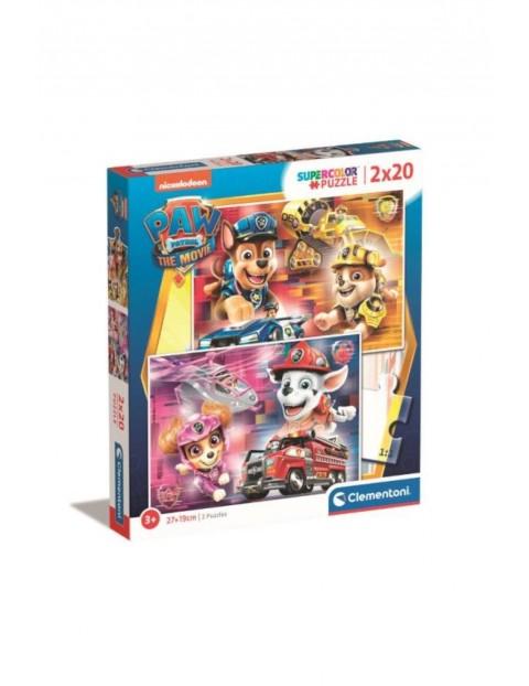 Puzzle super kolor Psi patrol -  2 x 20 elementy
