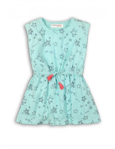Sukienka dziewczęca na lato- bawełniana w gwiazdki