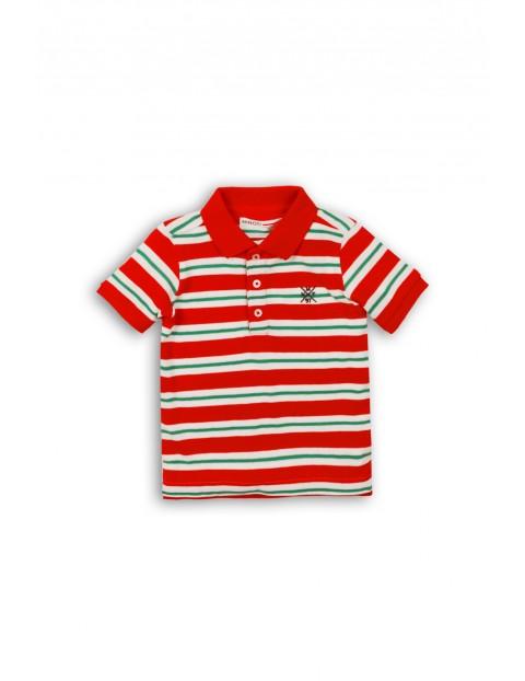 T-shirt chłopięcy w czerwone paski