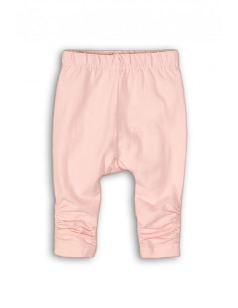 Leginsy niemowlęce dzianinowe- różowe