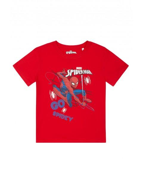 Koszulka chłopięca Spiderman Marvel-czerwona
