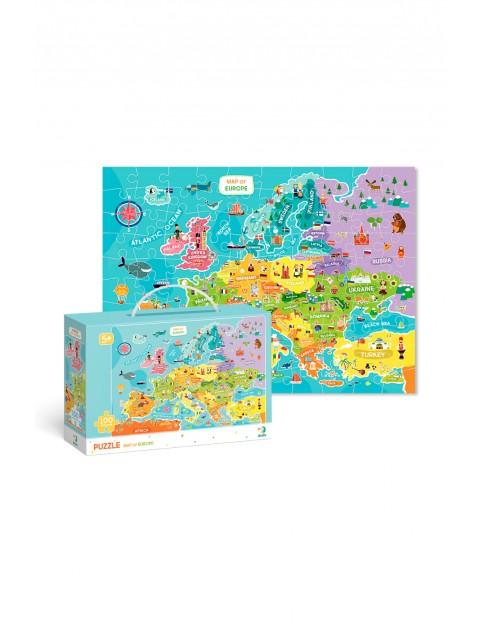 Puzzle Mapa Europy - 100 elementów