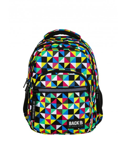 Plecak BACKUP wielokolorowy wzór geometryczny