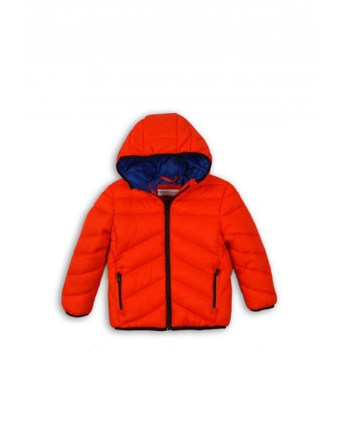 Kurtka niemowlęca pikowana- pomarańczowa