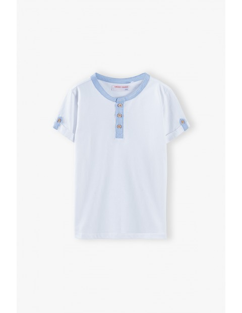 T-shirt chłopięcy w kolorze białym