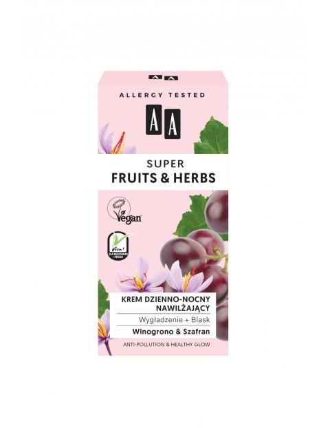 AA Super Fruits&Herbs krem dzienno-nocny nawilżający wygładzenie + blask 50 ml