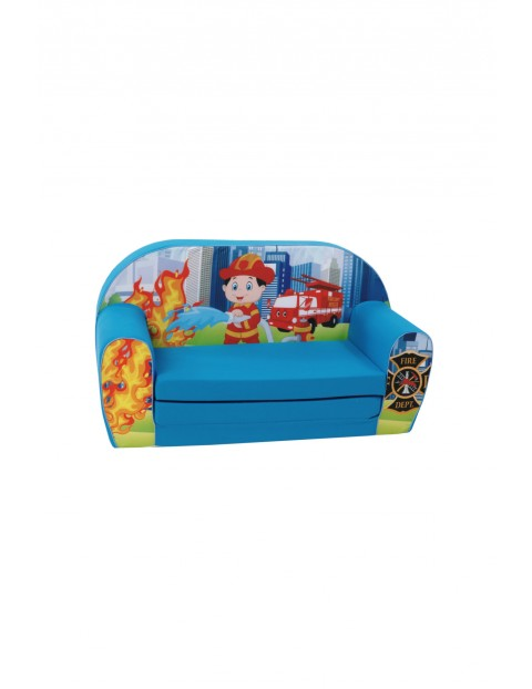 Rozkładana piankowa sofa dla chłopca Delsit Strażak
