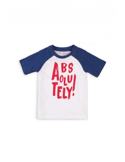 Bawełniany T-shirt niemowlęcy z napisem