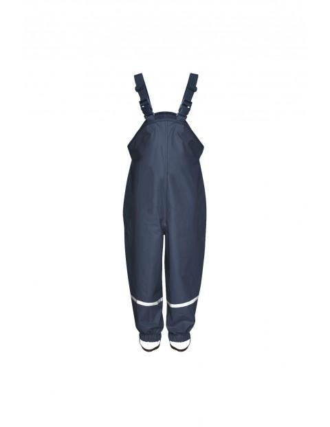 Spodnie przeciwdeszczowe- granatowe z odblaskami rozm 92