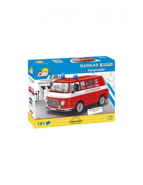 Klocki Cobi Barkas B1000 wóz strażacki  - 215 klocków wiek 5+