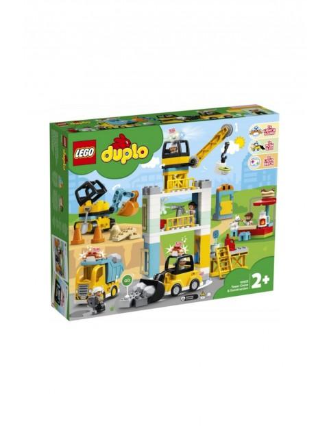 LEGO® DUPLO® Construction Żuraw wieżowy i budowa - 123 el wiek +2