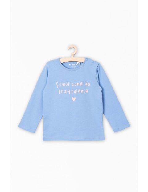 Bluzka dla niemowlaka z napisem- Stworzona do przytulania