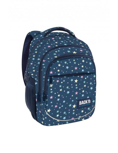 Plecak do szkoły- granatowy w gwiazdki