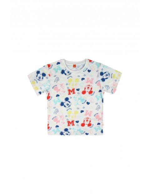 Kolorowy t-shirt dziecięcy z nadrukiem Mickey